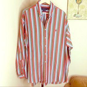 Ralph Lauren Blake Polo multi striped shirt XXL